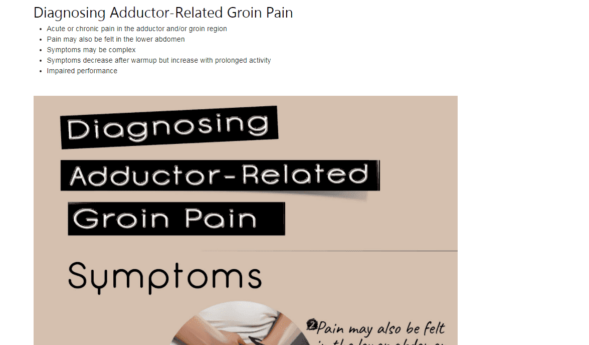 Diagnosing Adductor-Related Groin Pain Blog